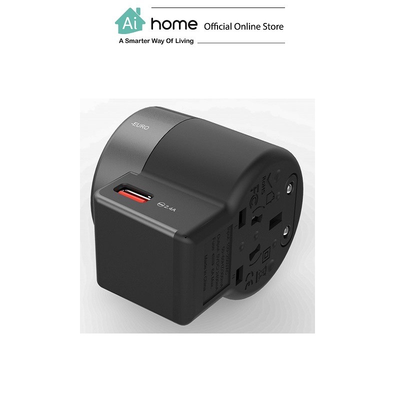 VIDVIE TA4401 2 USB Ports World Traver [ Chaarger Adapter ] with 1 Year Malaysia Warranty [ Ai Home ]
