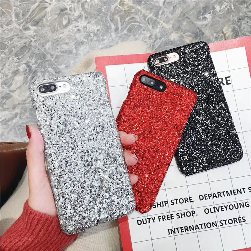Apple iPhone XS Max XR X 8 7 6s 6 Plus Phone Case Hard Cover Bling Glitter  Cases