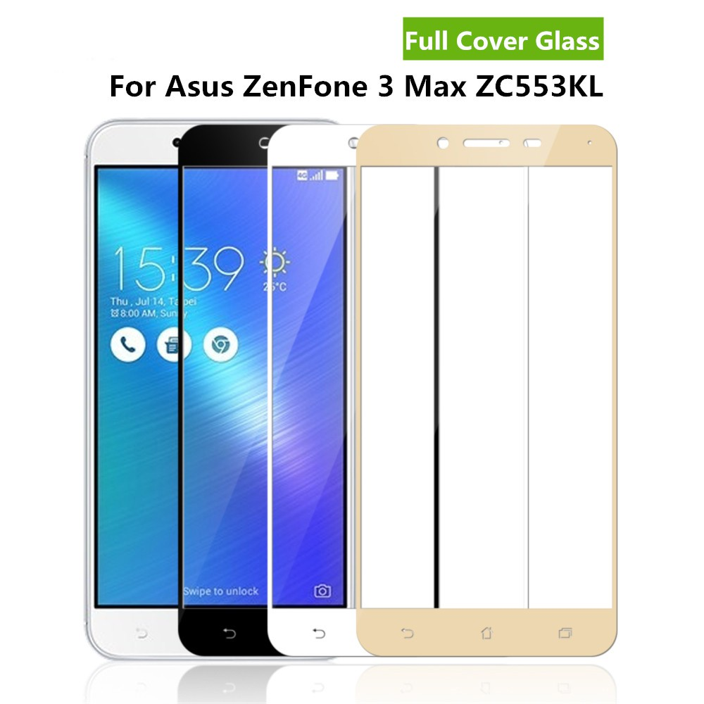 Asus Zenfone 3 Max 5.5 ZC553KL Full Covered Tempered Glass Screen Protector | Shopee Malaysia
