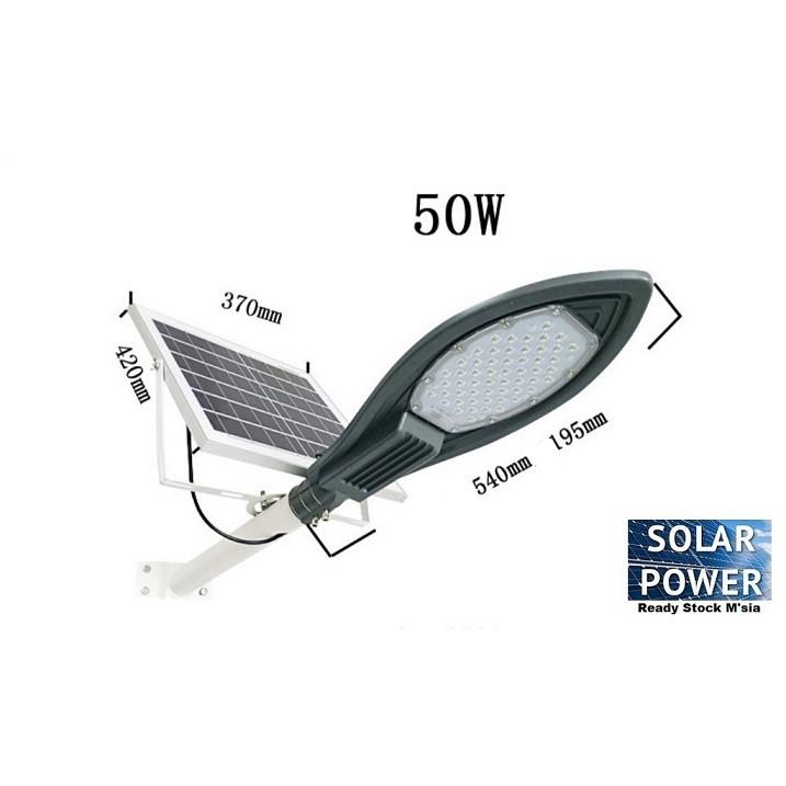 [ READY STOCK ]  30W 50W 100W 150W Solar Powered Street light Automatic On Off Control Flood Light Lampu Pelita