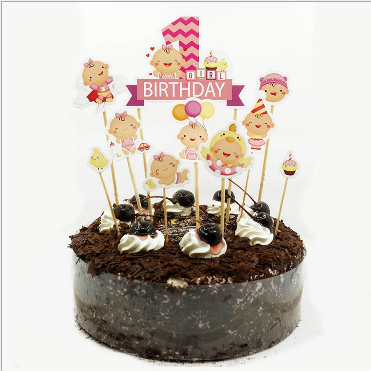 Fine Baby 1 Year Old Birthday Cake Cupcake Topper 9 10Pcs Shopee Birthday Cards Printable Opercafe Filternl