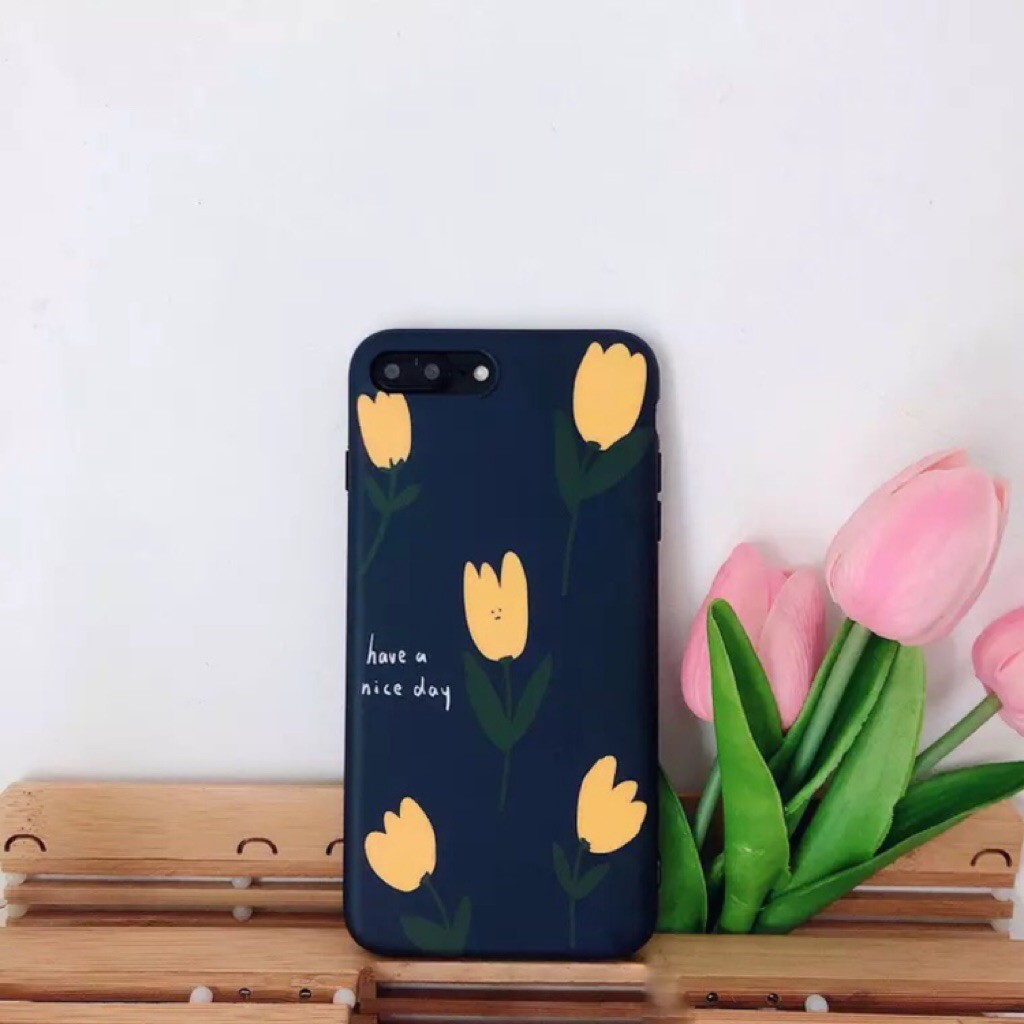 the best attitude a1b11 05943 Flowers Tulip Phone Case For iphone X/XS XR 6 6S 7 8Plus Cover Fashion Soft  Case