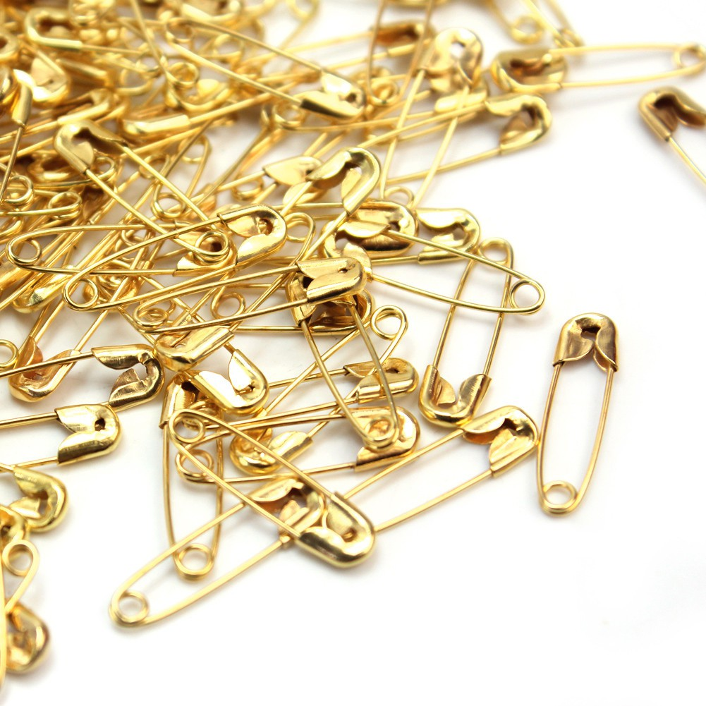 1000x Metal Silver Safety Pins//Gourd Pin//Bulb Pins for Clothing Crafting DIY