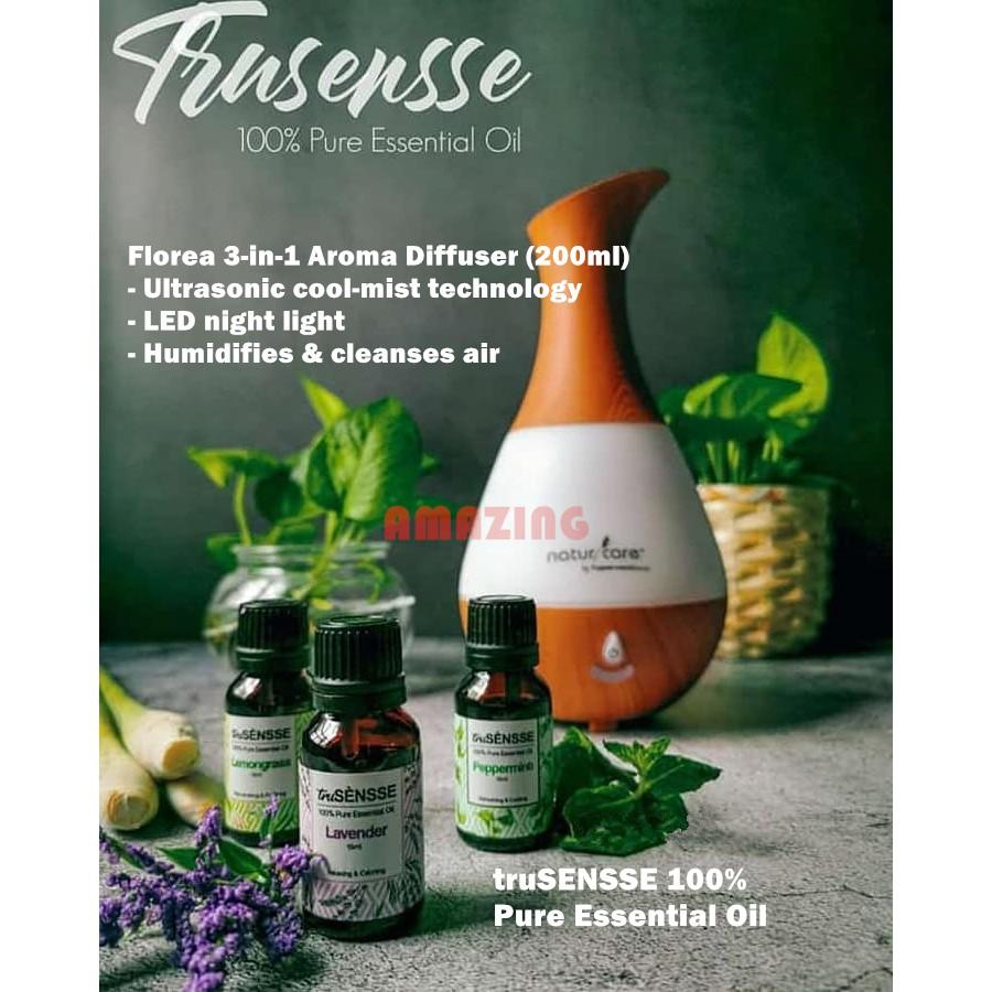 Tupperware Florea 3-in1 Diffuser and truSensse Wellness Pure Essential Oil