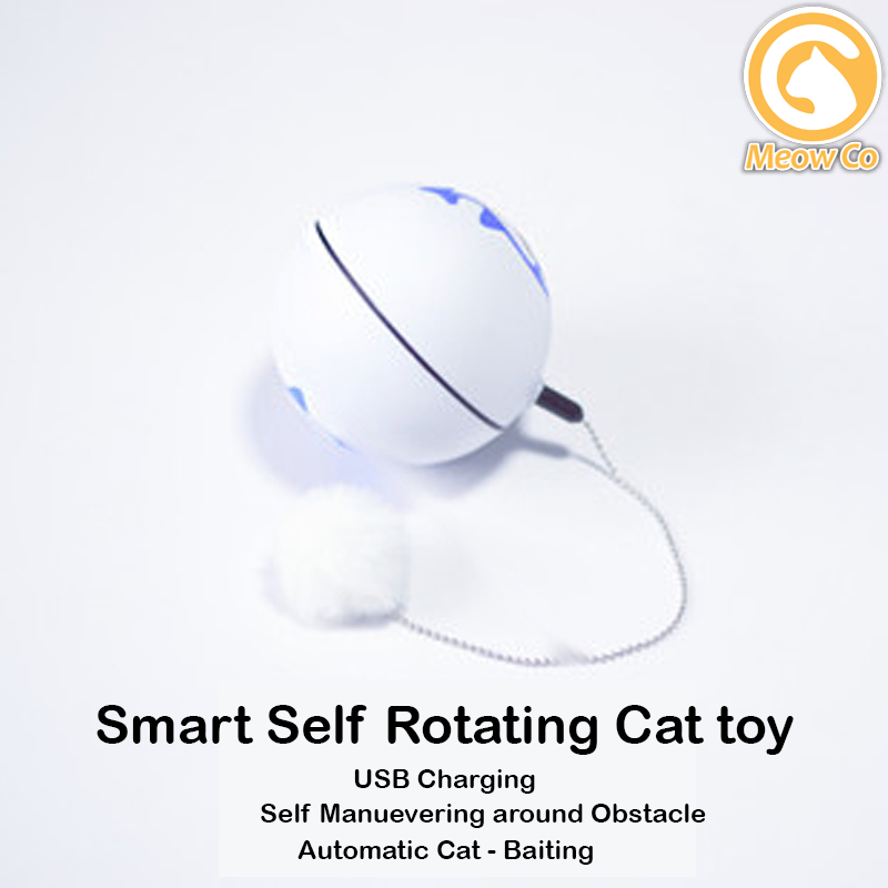 Smart Cat Toy USB Rechargeable 360 Degree Self Rotating Pets Ball Toys Motion Kitty Ball