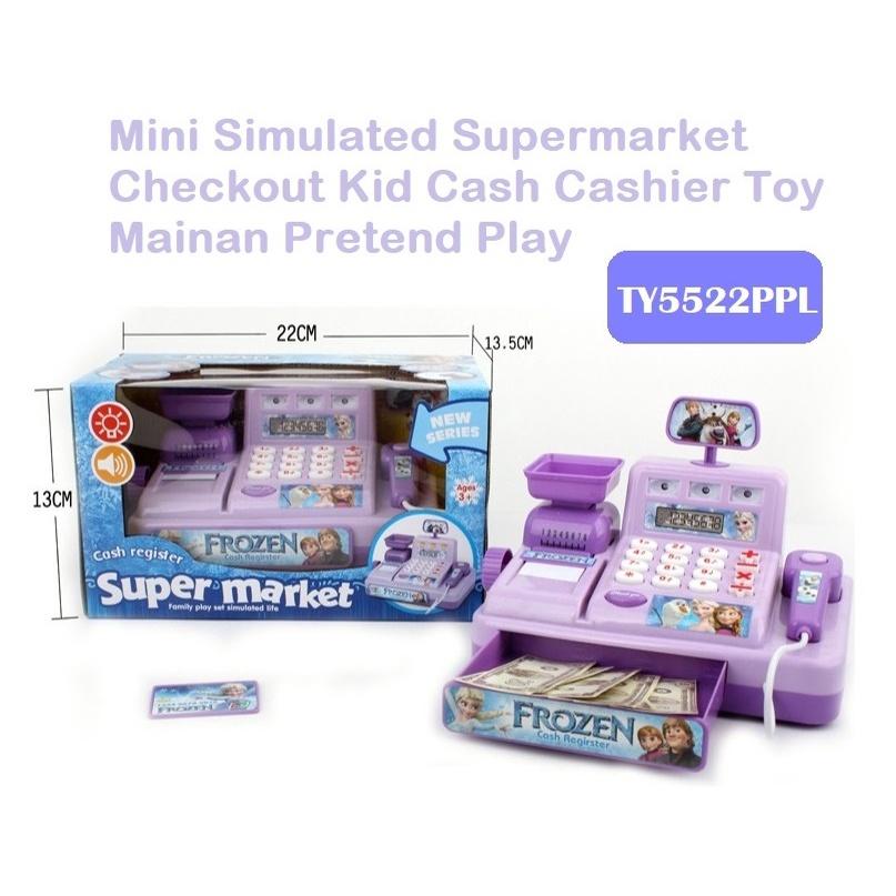 [ READY STOCK ]  Mini Simulated Supermarket Checkout Kid Cash Cashier Toy Mainan Jualan Murah Pretend Play Kitchen Budak