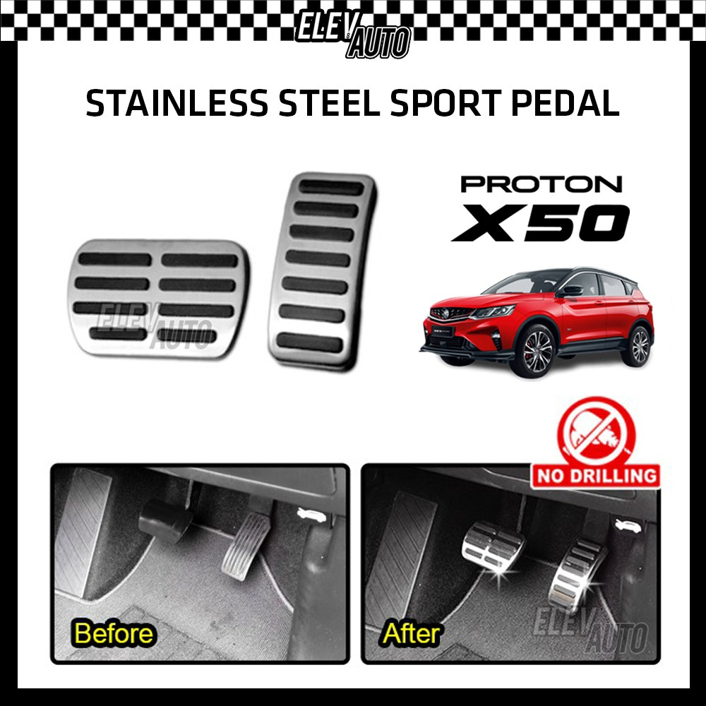 STAINLESS STEEL Sport Pedal with Anti-slip Rubber Proton X50