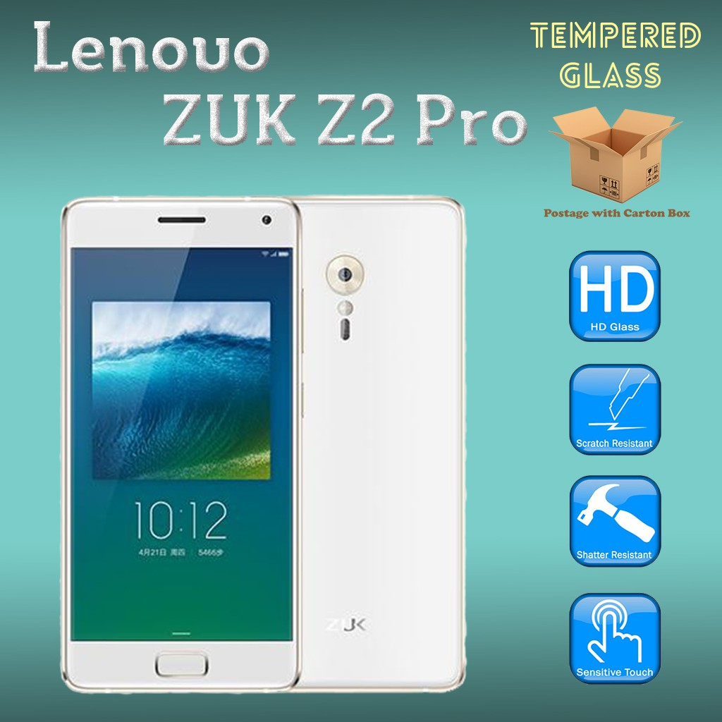 Lenovo Zuk Z2 Pro Tempered Glass Screen Protector Shopee Malaysia Full Cover For 2