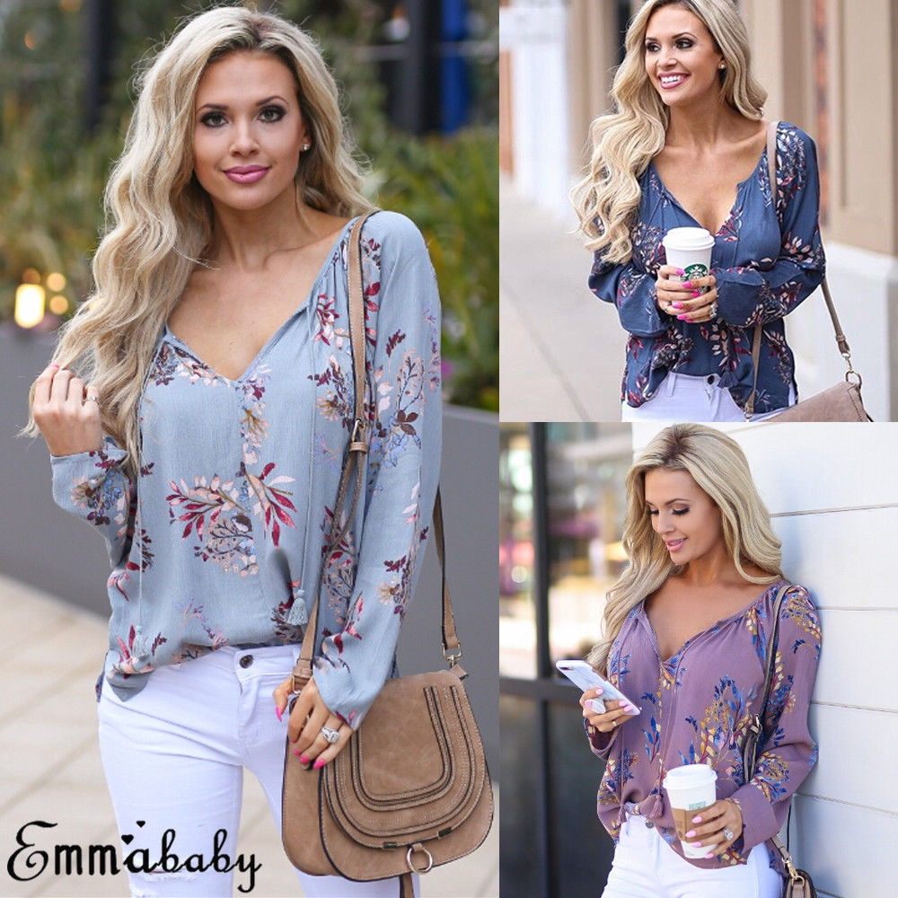 UK Womens Ladies Floral Summer Loose Tops Short Sleeve Blouse T Shirt Size 6-18
