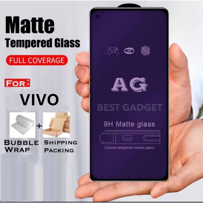 (MattBlueray) Vivo V9 V11 V11i V15 V15 PRO V17 V17 PRO V19 V20 V20se S1 S1 PRO AG 9H 9D Tempered Glass screen