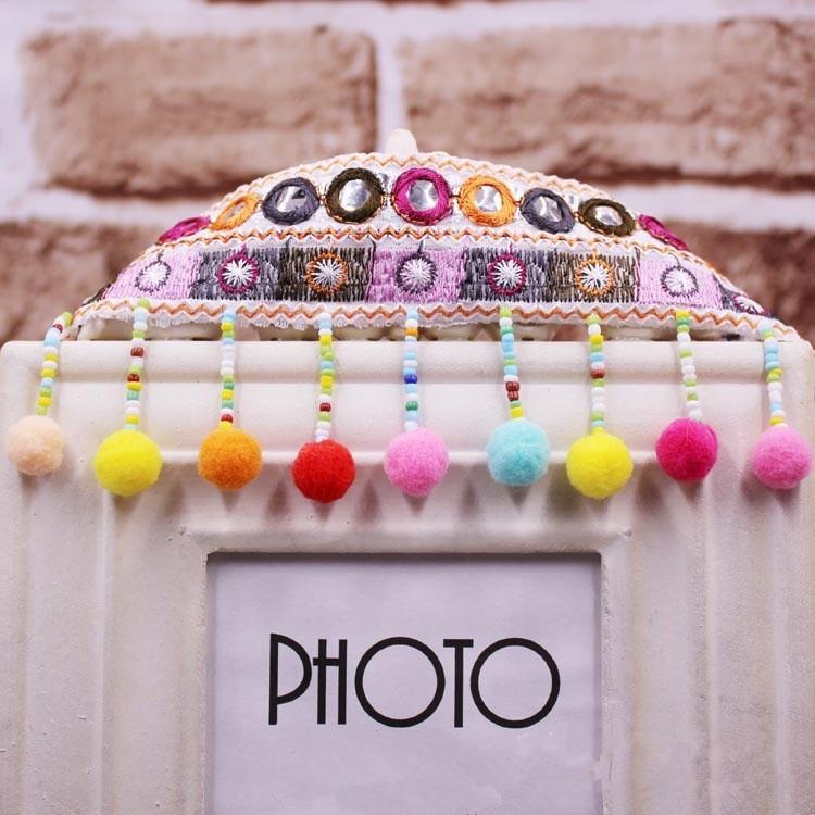 Balls Tassels Rainbow Pom Pom Bobble Trim Ribbon Craft Upholstery 100 Designs
