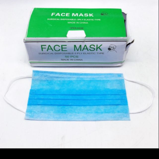 Surgical 3ply -50pcs Disposable Mask Face
