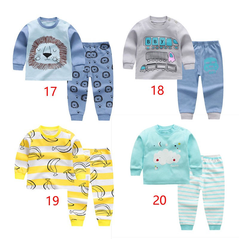 c2ecf08ef Stripe children's sleepwear for baby boys clothing cotton long sleeve  shirt+pant