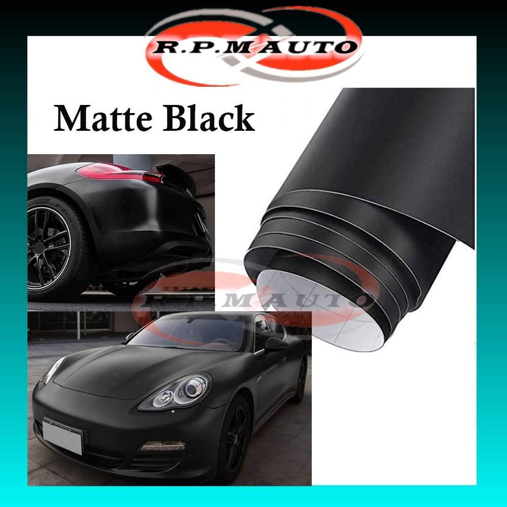 300cm x 50cm Matte Black Car Motor Sticker Vinyl Film Sheets Wrap Car Kereta Body Sticker