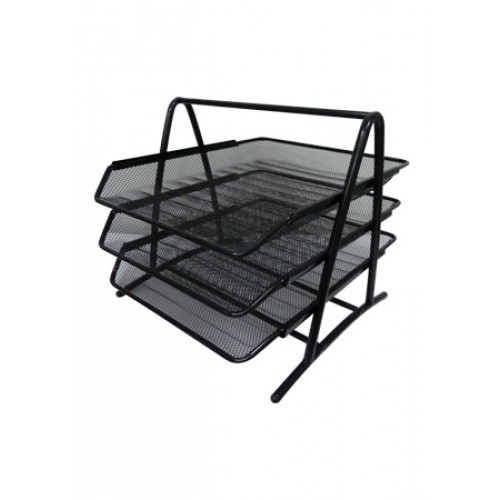 3 Tier Wire Mesh Document Tray / 3 Layer Wire Mesh Letter Tray