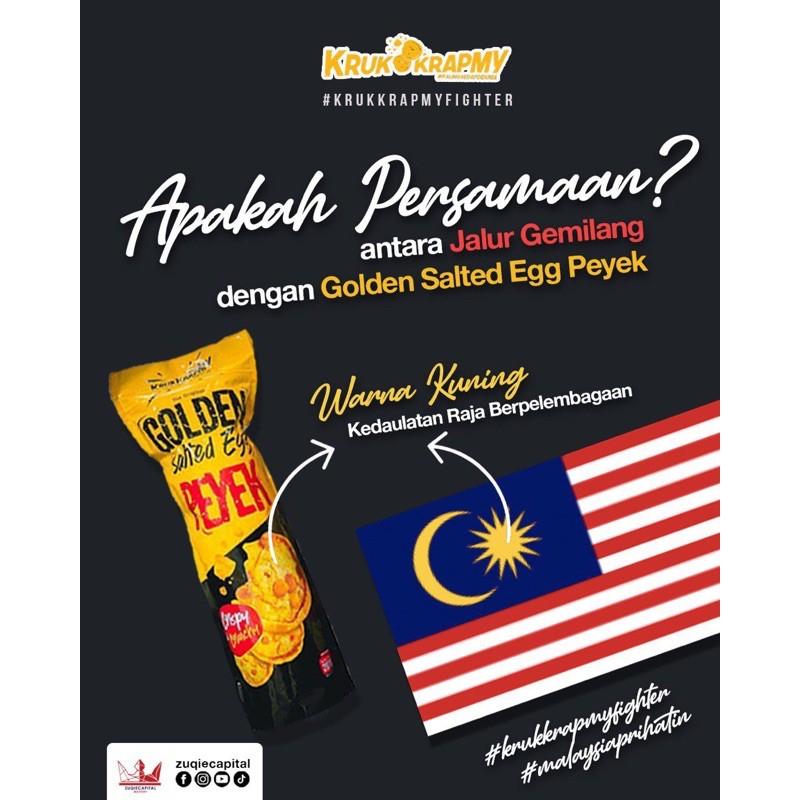Golden Salted Egg Peyek Krup Krap 207gram