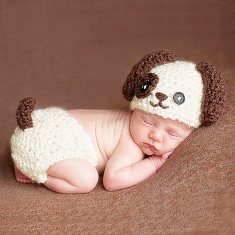 Newborn Baby Girls Boys Crochet Knit Costume Photo Photography Prop Outfits