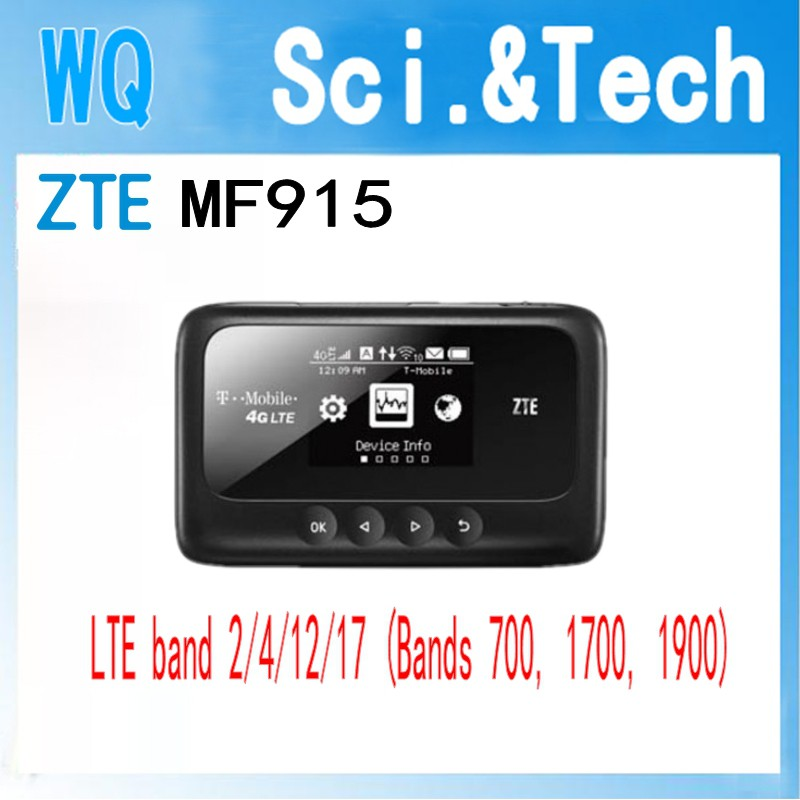 Unlocked ZTE MF915 Z915 4G Mobile WiFi Hotspot LTE router band 2/4/12/17