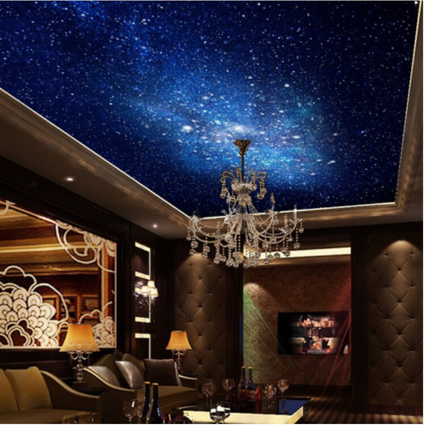 Star Cloud Night Sky Mural Ceiling