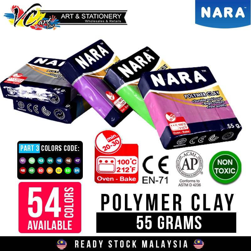 55 grams Nara Soft Polymer Clay **Thailand No 1** (En71 European Non Toxic)  Fimo/Sculpey (Part 3)