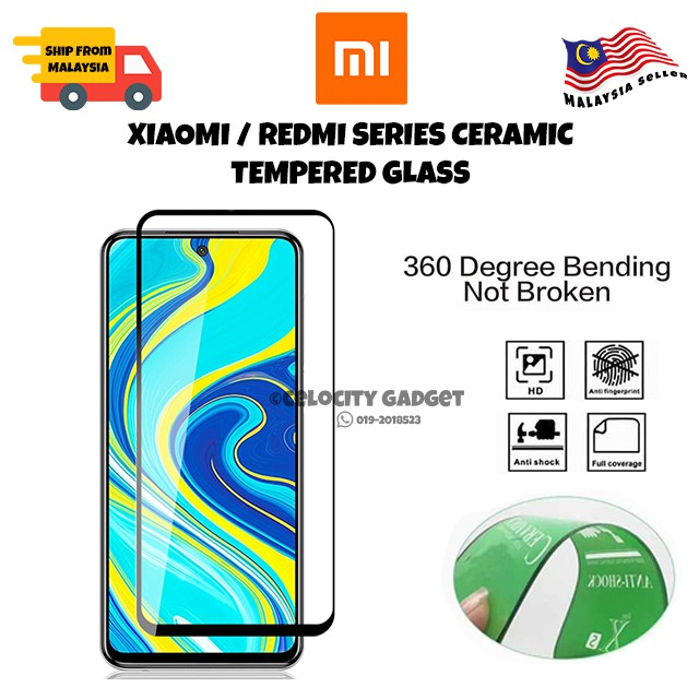 9D Ceramic Tempered Glass For Redmi 8/8a/Note8/Note8Pro/Note9s/Note9Pro