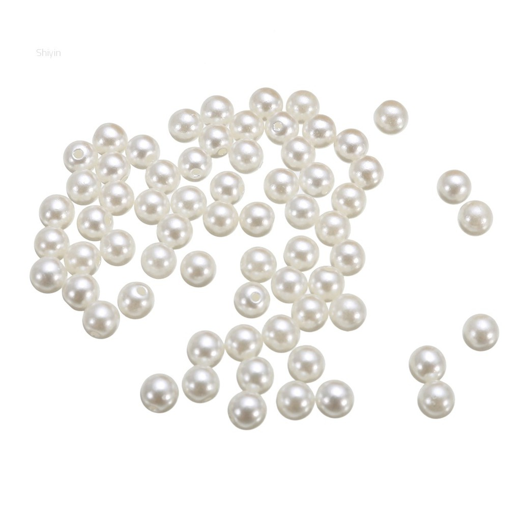 50pcs Pearls Rivets Studs for DIY Leather Bag Clothes Decoration LW