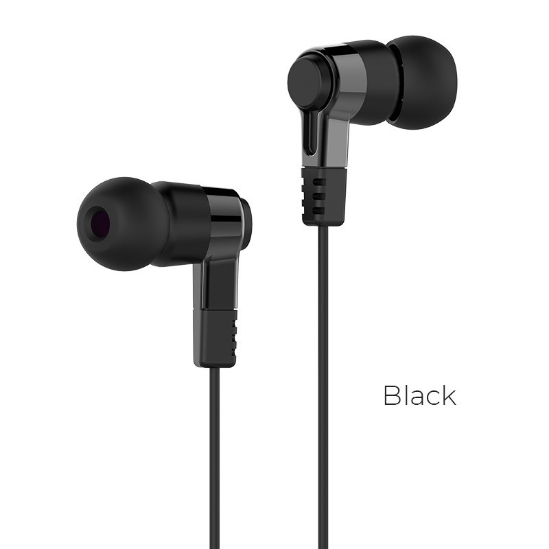 HOCO M52 Amazing rhyme 3.5mm universal earphones with microphone high elastic cable in-ear lightweight design