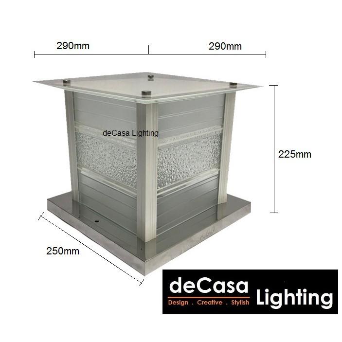 DECASA LIGHTING  300mm Lampu Hiasan Outdoor Gate Light Lampu Pagar Outdoor Lighting  6730 / B5005