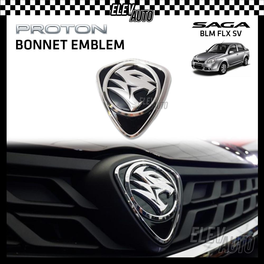 PROTON New Design Chrome Logo Emblem Front & Rear Saga BLM FLX SV