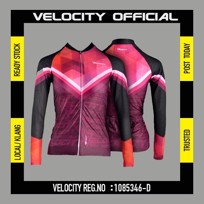 [READY STOCK]Velocity Lady Long Cycling Jersey-Purple Lady