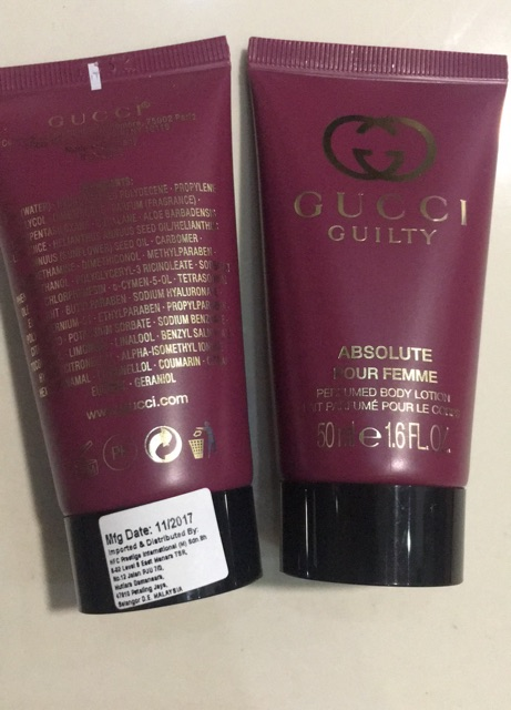 94c5fcc1e Gucci Guilty Absolute Pour Femme Perfumed Body Lotion 50ml | Shopee Malaysia