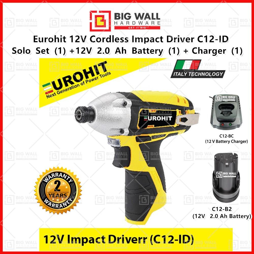 Eurohit C12-ID Cordless Impact Driver Big Wall Hardware