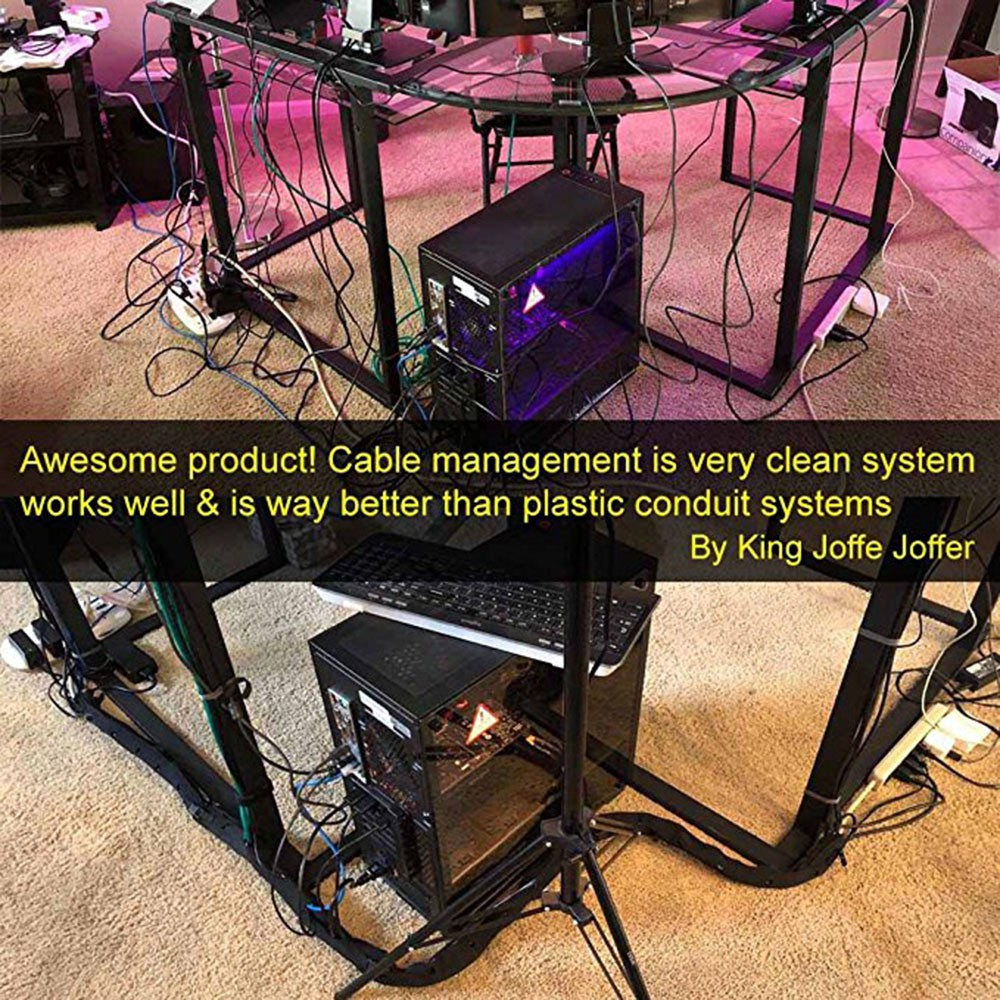 """Expandable Computer Cord Organizer System 19.5/"""" Cable Management Sleeve II"""