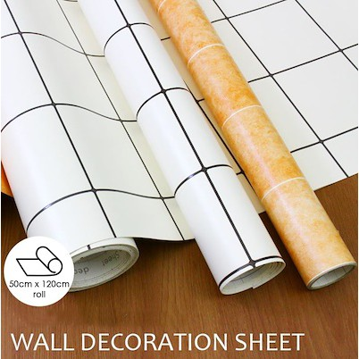 [50cm x 120cm] CUSHION FOAM SHEET KITCHEN/TOILET/ Self Adhesive Wallpaper DIY Sticker Tile Design