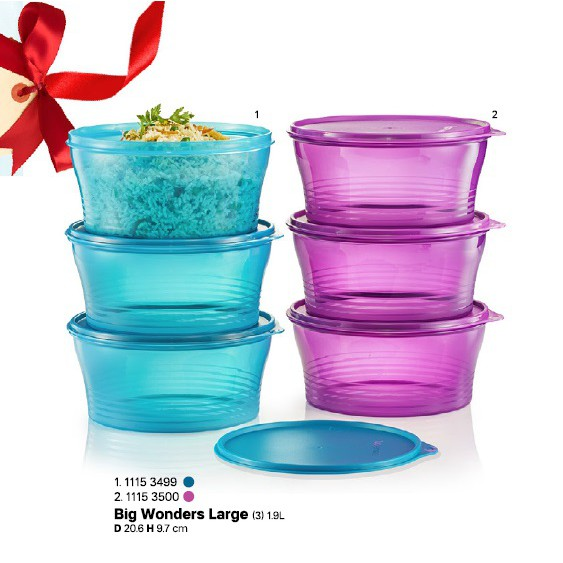 ⭐Tupperware Big Wonders Large bowl Set 1.9L
