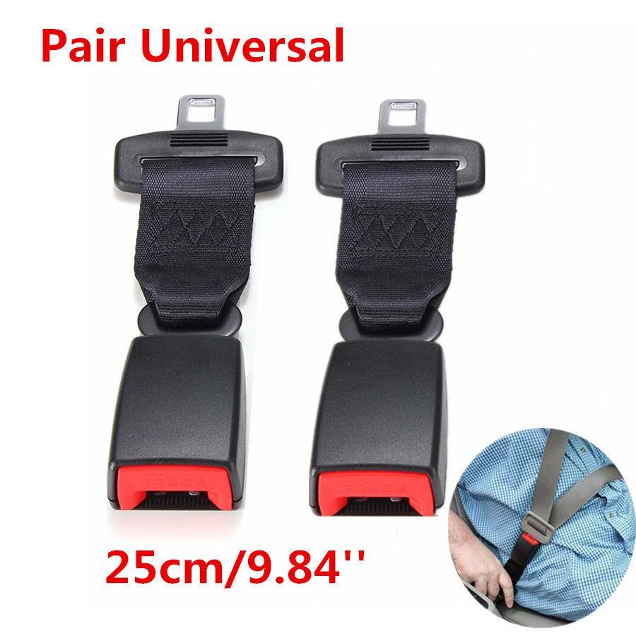 25cm Universal Adjustable Car Seat Belt Extender Strap Safety Extension Buckle