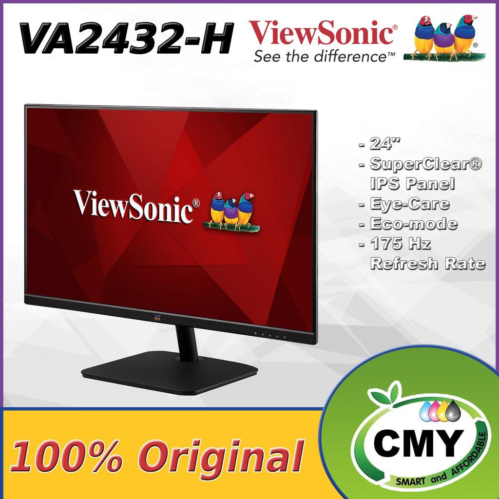 """VIEWSONIC 24"""" VA2432-H LED FLAT FULL HD (1920x1080, 75Hz) FRAMELESS IPS LCD MONITOR VA2419-SH VA2419H VA2432H VA2419"""