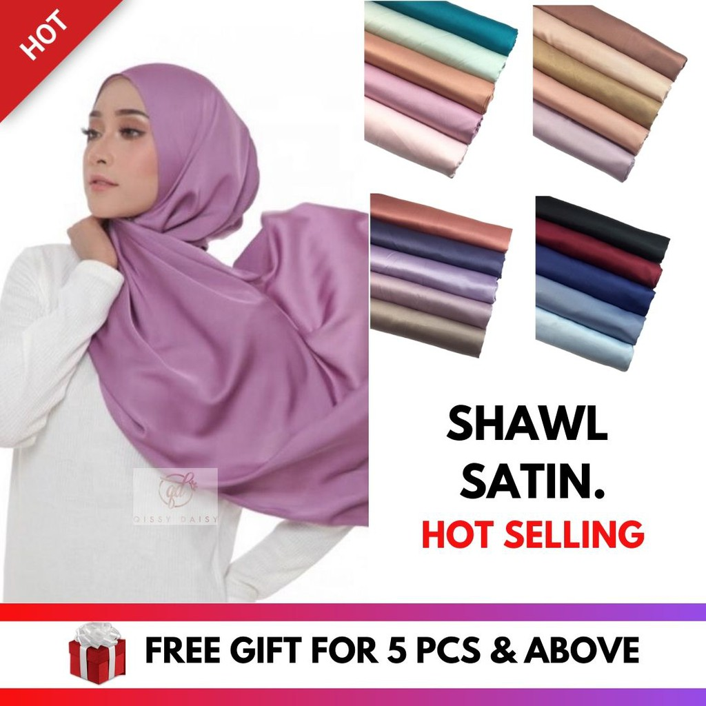 Shawl Satin Plain Matte