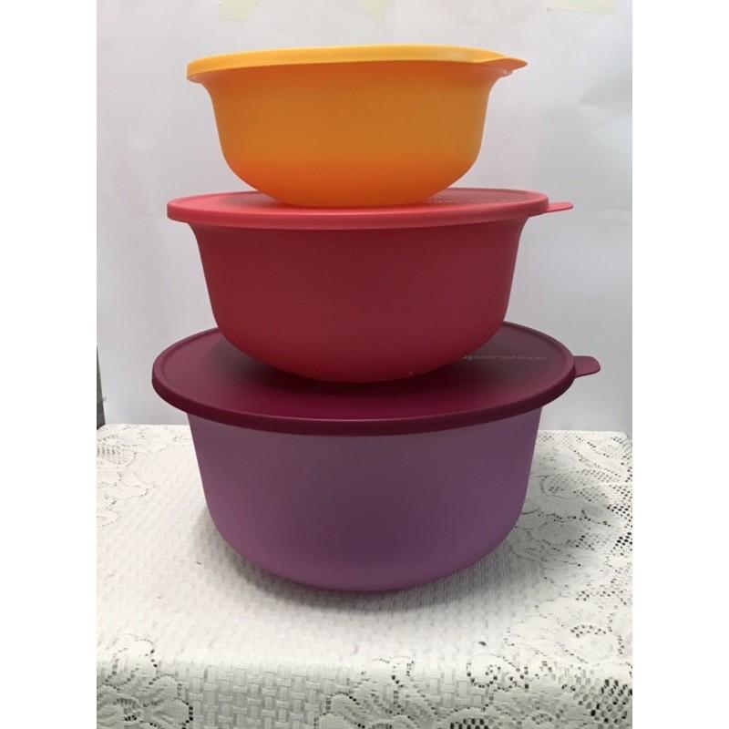 Tupperware brand Aloha Bowl in 3 colours
