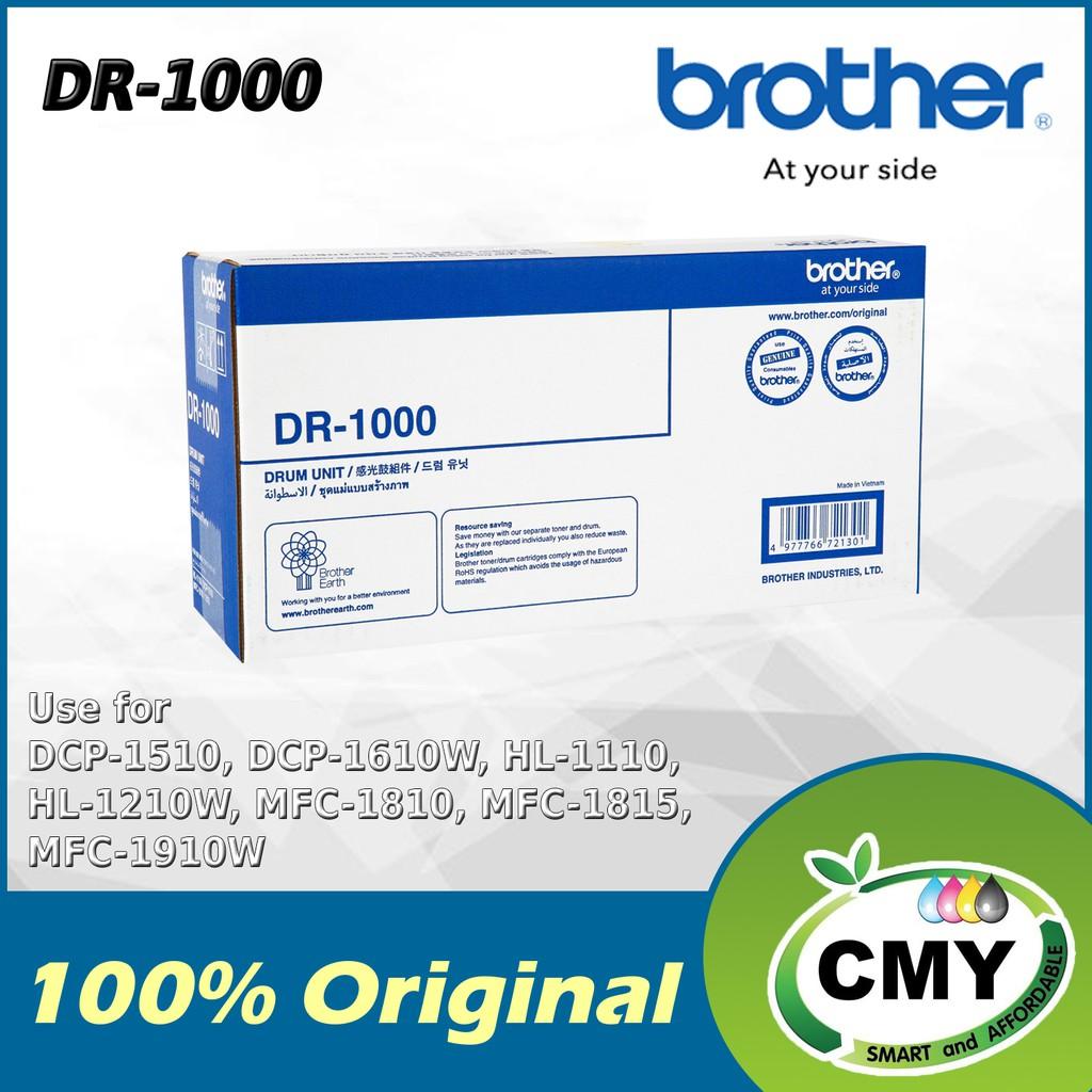 Brother Original Drum DR-1000 DR1000 DR 1000 for HL-1110 / HL-1210W / DCP-1510 / DCP-1610W / MFC-1810 / MFC-1815 1910W