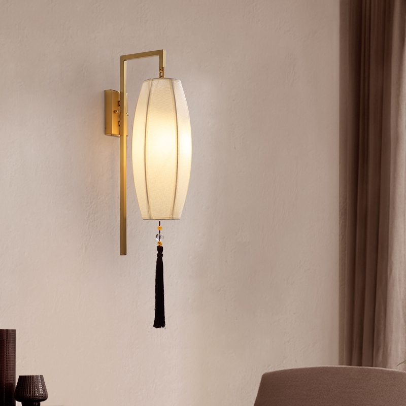 New Chinese Style Wall Lamp Copper Bedroom Bedside Lamp Corridor Lamp Shopee Malaysia