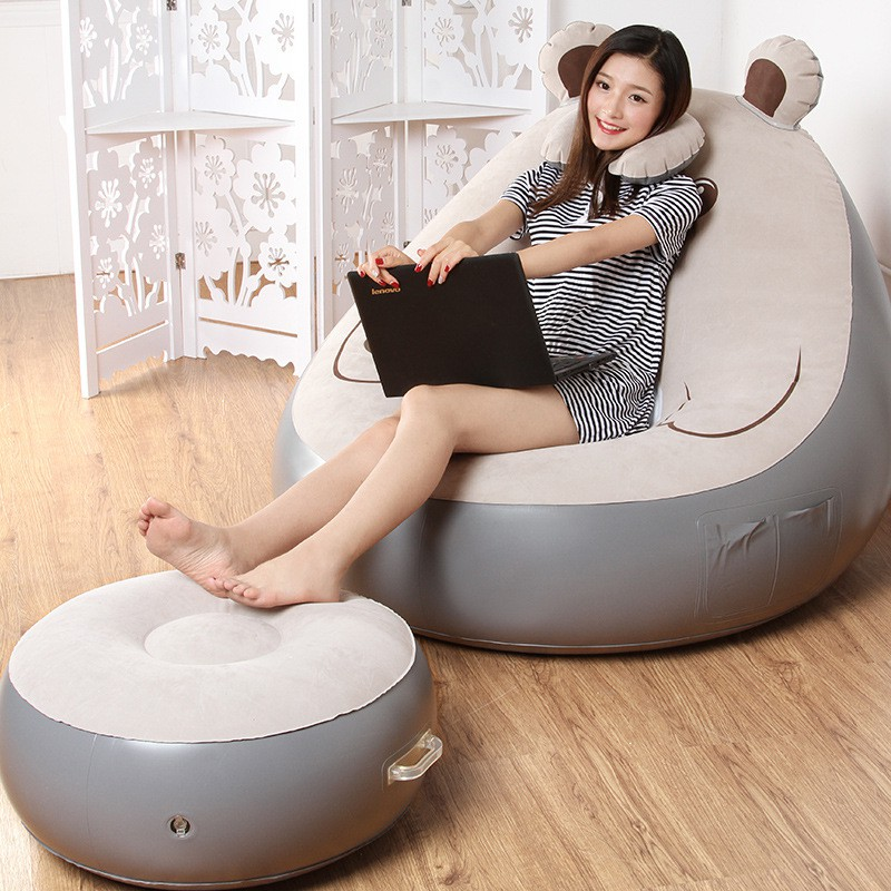 Living Room Furniture Home Furniture Creative Lazy Couch Cartoon Bear Single Balcony Nap Inflatable Sofa Bed Bedroom Leisure Dormitory Lazy Chair