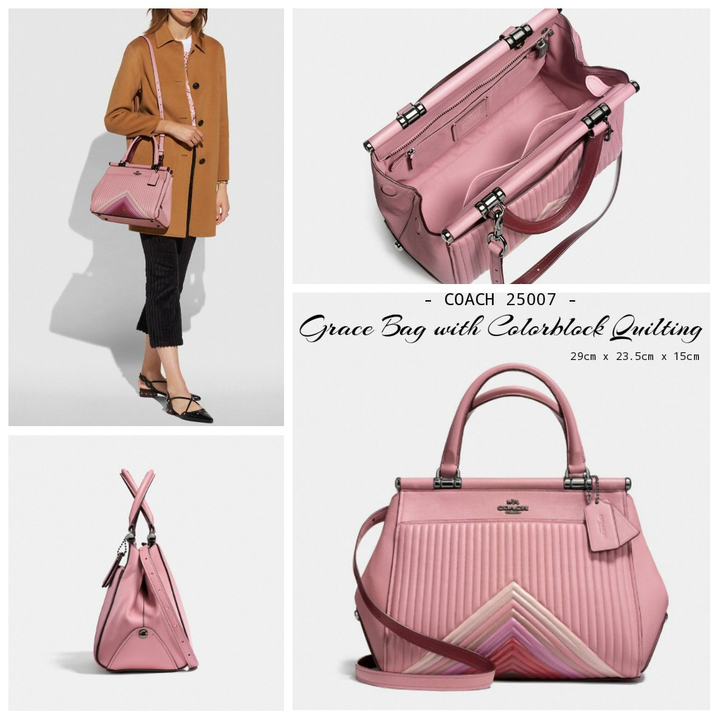 55deb1ae92 Coach Grace Bag with Colorblock Quilting