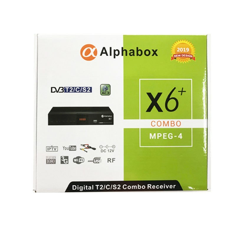 2019 Alphabox x6 T2/C/S2 TV box Digital Ninmedia receiver set top box wifi  mytv