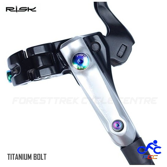 6pcs M5 x 10mm TI Titanium BB5 BB7 Avid SRAM Disc Brake Rotor Torx Screw Bolt