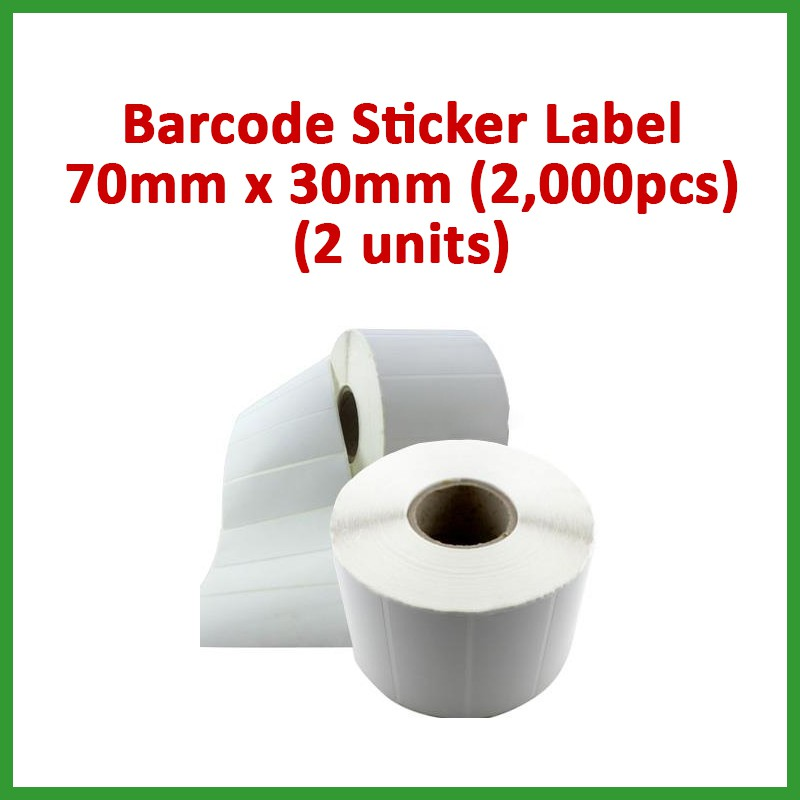 SPECIAL OFFER! Barcode Blank Sticker Label 70mm x 30mm, 2000pcs