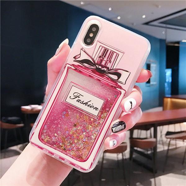 huge selection of 2b163 ffb15 Casing iPhone XS MAX X XR 5s SE 6 6s 7 8 Plus Dynamic Perfume Bottle  Quicksand Liquid TPU Case