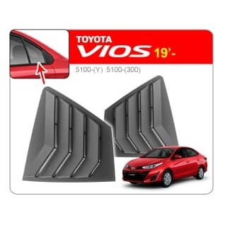 [FREE Gift] TOYOTA VIOS 2019 MUSTANG Aerodynamic ABS Side Window Louver Cover Guard Protector (Pair)