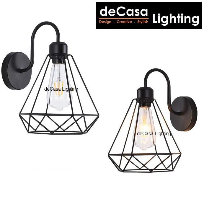 Ready Stock Black Loft Wall Lamp Best Seller DECASA Wall Light Lampu Hiasan Dinding MJ