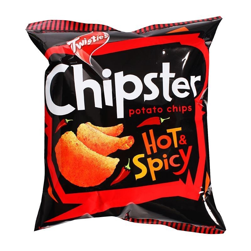 TWISTIES CHIPSTER POTATO CHIPS HOT & SPICY 60G